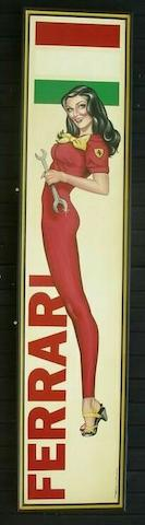 Tony Upson, 'Ferrari girl'.