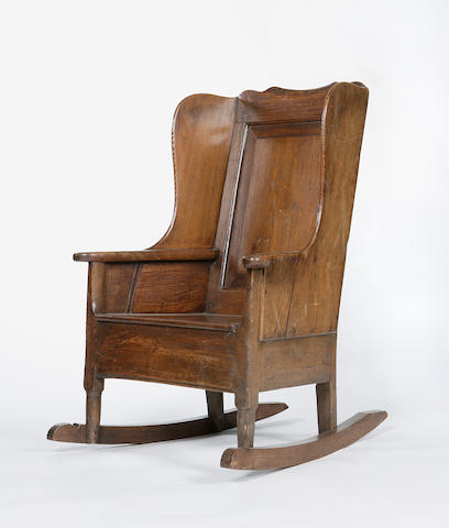 A 19th century Aberdeenshire oak and pine chair