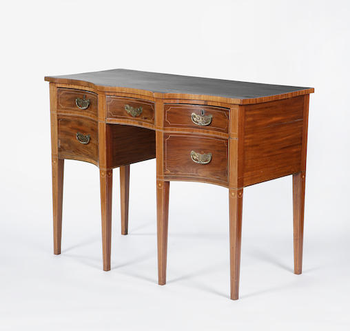 A 19th century mahogany ebony and boxwood line sideboard