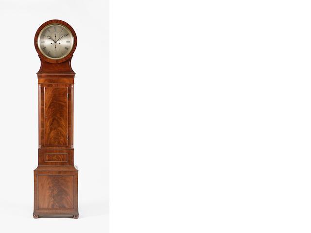 A late Regency mahogany drumhead longcase clock