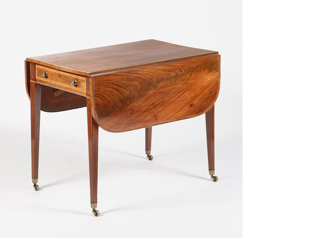 An Edinburgh Regency mahogany and inlaid pembroke table