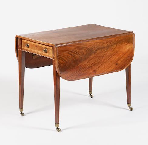 An Edinburgh Regency mahogany and inlaid pembroke table