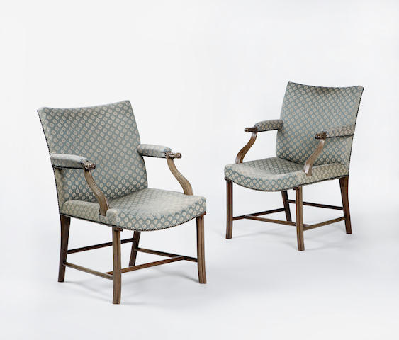 A pair of Whytock & Reid Cockpen chairs