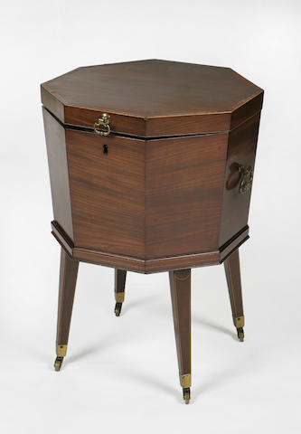 A Regency mahogany octagon shaped cellaret