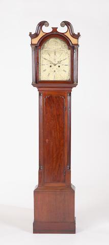 A George III mahogany longcase clock Charles Lyon Haddington