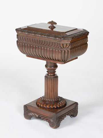A William IV mahogany teapoy