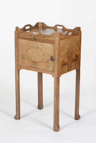 A Whytock & Reid burr and figured walnut pot cupboard