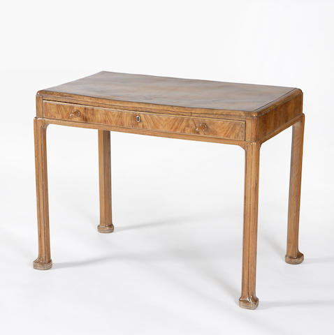 A Whytock and Reid walnut side table