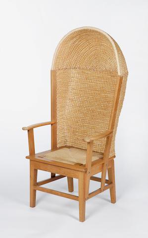 An oak framed Orkney armchair