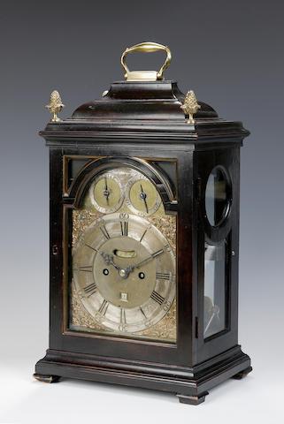 An 18th Century ebonised bracket clock N Macpherson Edinburgh