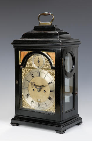 An ebonised bracket clock by Normand Macpherson