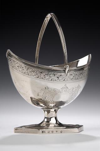 A George III Sugar Basket By John McKay, Edinburgh 1792,