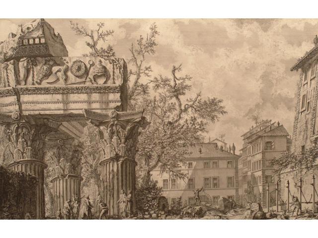 Giovanni Battista Piranesi The Temple of Vespasian.