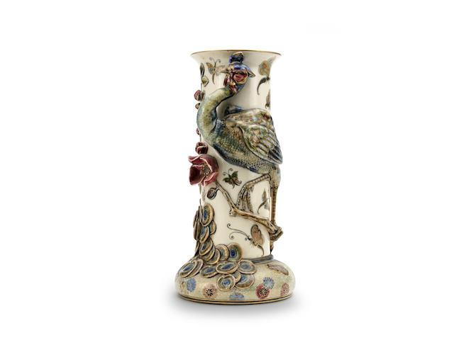 A large Zsolnay (Pecs) vase