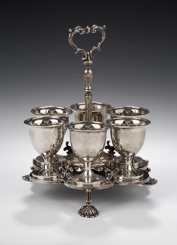 A Victorian silver Egg Cruet By Robert Gray & Son, Glasgow, 1841/42,