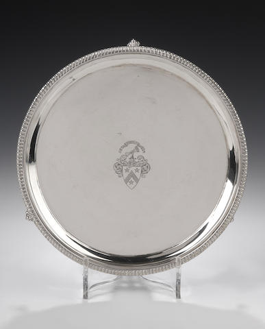 A George III silver Salver By William & Patrick Cunningham, Edinburgh 1813,