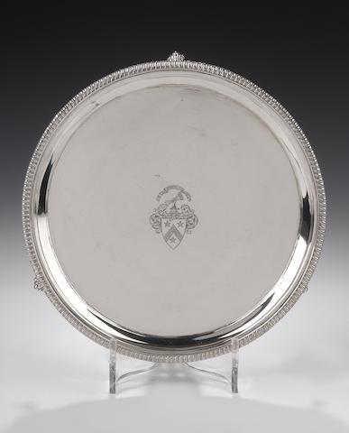 A George III silver Salver By William & Patrick Cunningham, Edinburgh 1813,