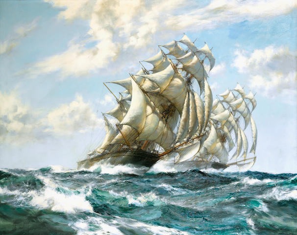 Montague Dawson (British 1895-1973) The Great Race - Ariel and Taeping 101.6 x 127cm. (40 x 50in.)