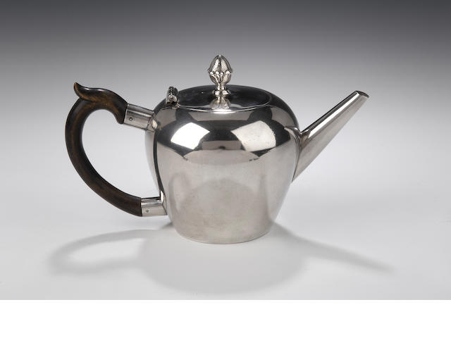 A rare George II Teapot  By Colin Campbell, Edinburgh, 1822, assay master's mark of Edward Penman,