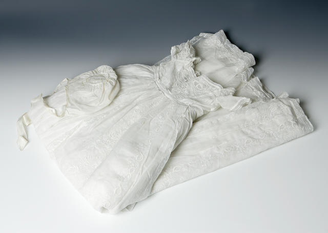 Two christening robes and associated items