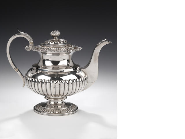 A George III silver Coffee Pot By George McHattie, Edinburgh 1815,