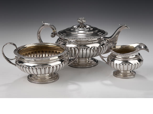 A George III Tea Service by George McHattie, Edinburgh 1818,