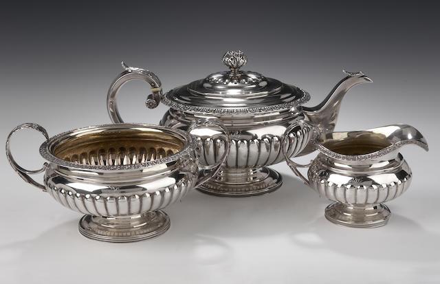 A George III Tea Service by George McHattie, Edinburgh 1818,