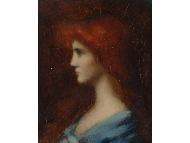 English School, Late 19th Century Portrait of a lady in profile.