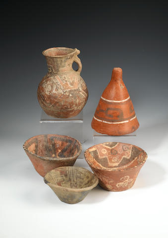 A group of Tiahuanco pottery vessels 14