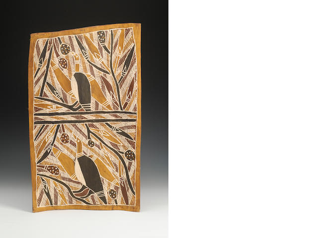 3 Australian bark paintings