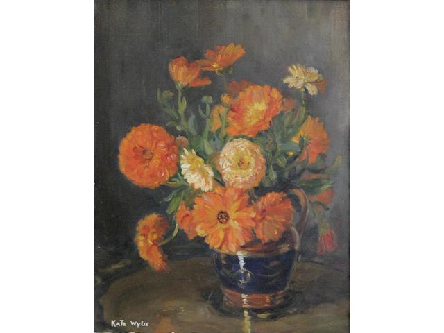 Kate Wylie (1877-1941) Marigolds