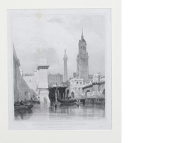Edward William Cooke Views of London a set of eight etchings published 1833 by Brown and Syrett 12 i