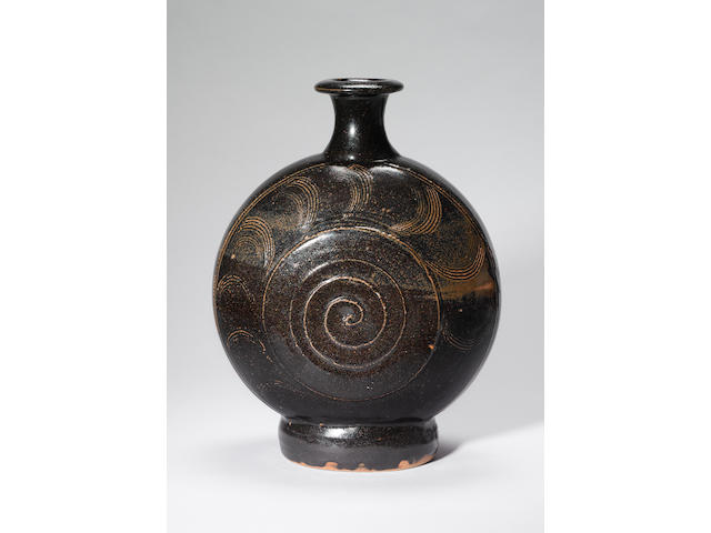 Bernard Leach a large 'Pilgrim' Flask, circa 1960 Height 38.5cm (15 1/8in.)