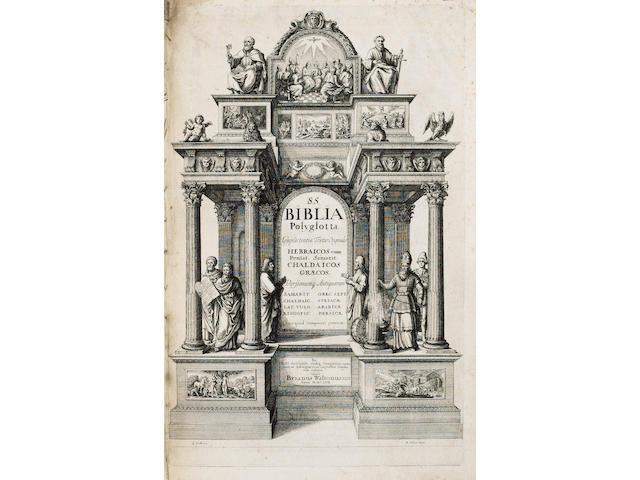 BIBLE, POLYGLOT Biblia Sacra polyglotta, 6 vol.