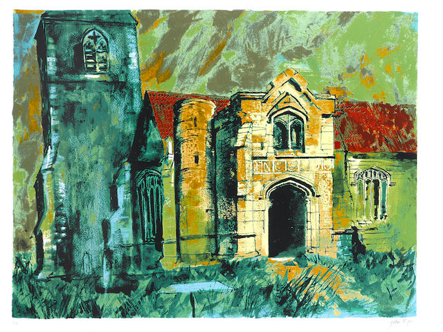 John Piper Holme, Nottinghamshire Screenprint, 1985, printed in colours, on Arches, signed and inscr