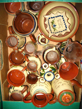 A quantity of Scandy ware