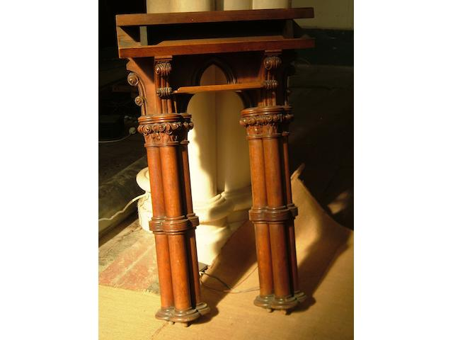 A carved oak clergy lectern,