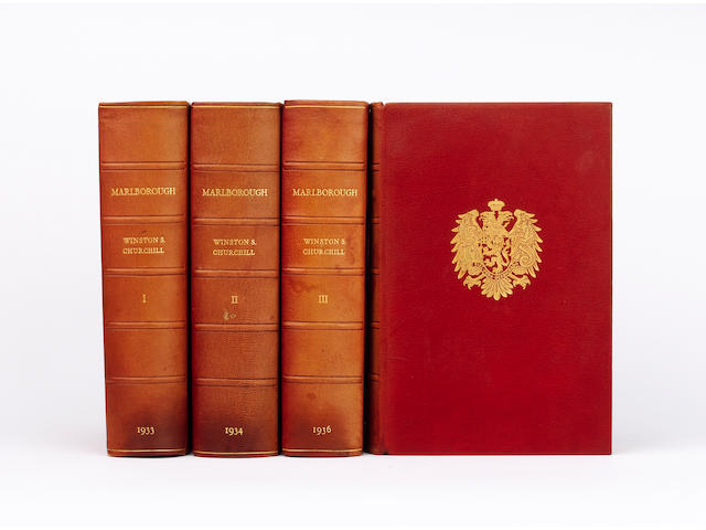 CHURCHILL (WINSTON SPENCER) Marlborough. His Life and Times, 4 vol., NUMBER 22 OF 155 COPIES, SIGNED