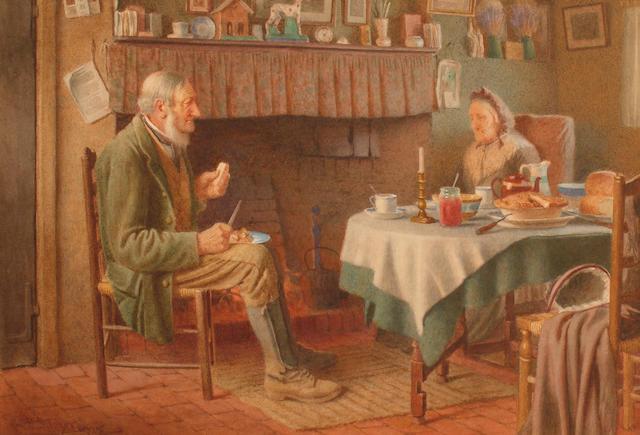 H Spernon Tozer (British, 1864-c.1938) Breakfast Time.