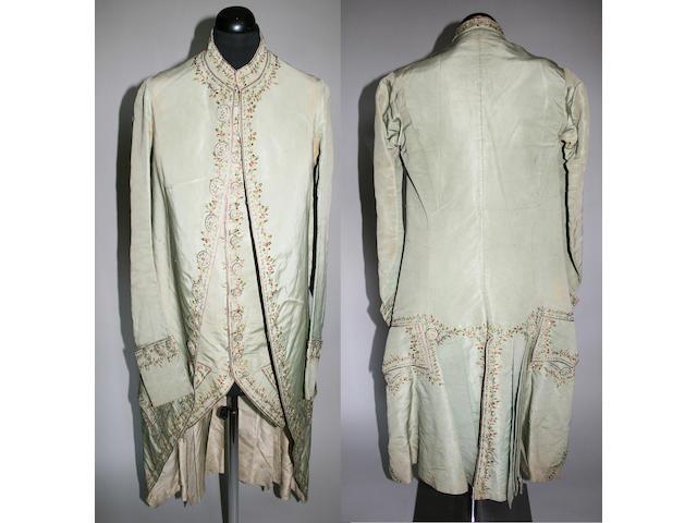 A late 18th century gentleman's frock coat