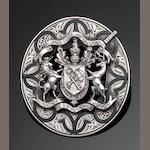 A silver and black enamel Clan Macgregor brooch, by Mackay and Chisholm