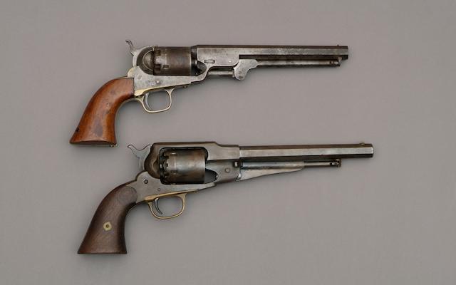 A Six Shot Percussion Colt Navy Revolver