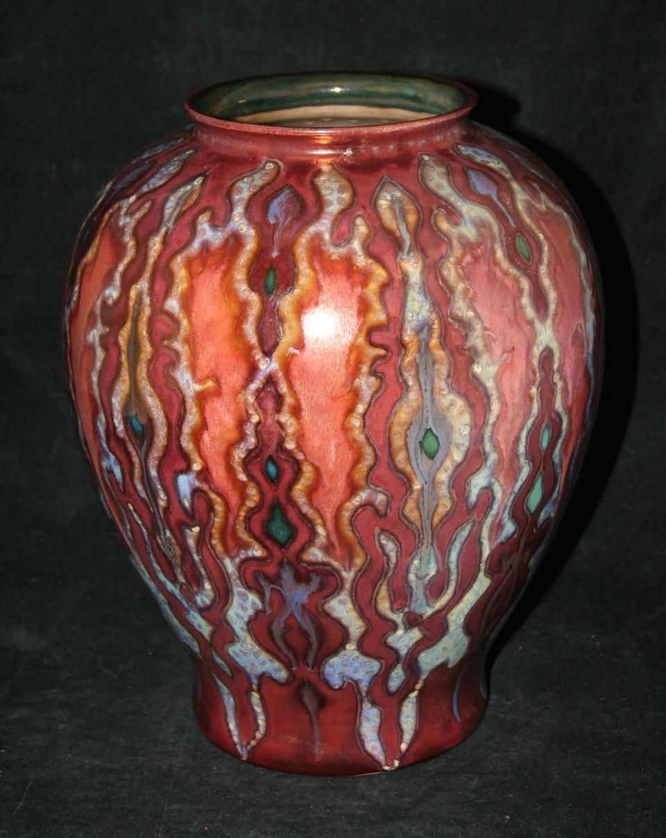 A Gouda lustre ware vase, circa 1950