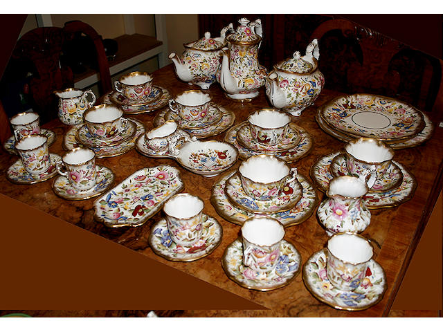 A Hammersley Queen Anne `Chintz' part tea/coffee service