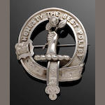 A silver plaid brooch for clan Anderson, Kinnear or Thomas