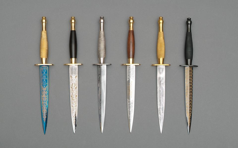 The World War 2 Victory Collection Of Six FS Knives By Wilkinson Sword