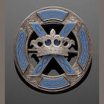 A Scottish saltire brooch