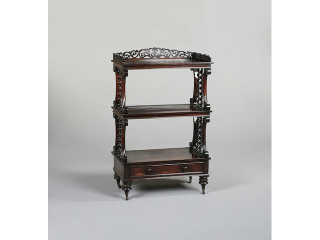 A William IV rosewood three tier buffet