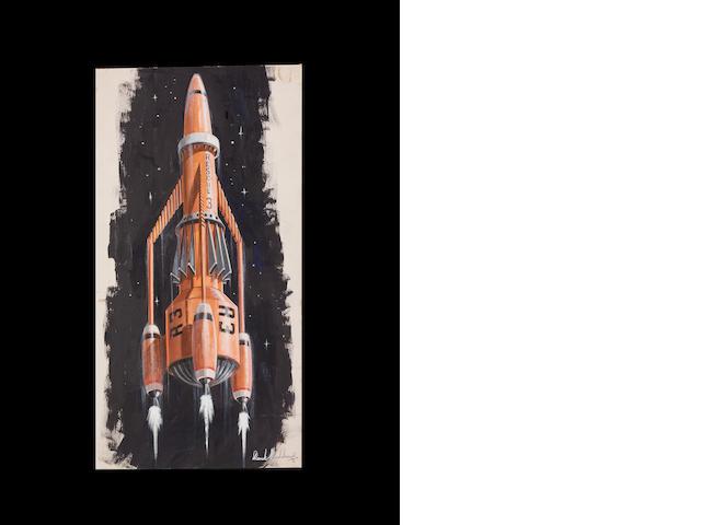 Thunderbirds 1965-66 Original painting Thunderbird 3 Concept.