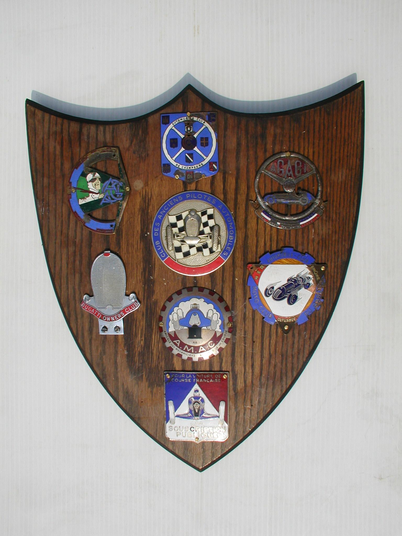 Racing Car Club Badges - a good collection of rare pre & early post-war...
